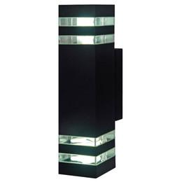 Wholesale Outdoor Balcony - Free shipping Gray black Outdoor Waterproof IP65 Aluminum LED Wall Lamps Garden Lights Balcony Lamp Outdoor Wall Lamp