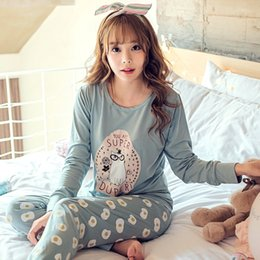 Wholesale Lowest Price Women S Clothing - Wholesale- LOW Price 2016 Spring & Autumn Winter Girl Long Sleeve Pajamas For Women Lovely Cartoon Women Clothing Sleepwear Send goggles
