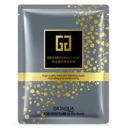 Wholesale Mask Facial Collagen Gold - Sheet Mask Gold Collagen Masks BIOAQUA Moisturizing Tender Facial Mask Oil Control Brighten Face Mask Lot Beauty Skin Care