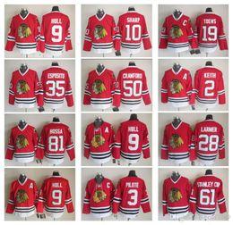 Wholesale Belfour Jersey - Men's Chicago Blackhawks 9 Bobby Hull 7 Chris Chelios 18 Denis Savard 35 Tony Esposito 30 Ed Belfour 21 Stan Mikita Hockey Jerseys