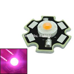 Wholesale Grow Lamp Beads - Free Shipping Wholesale 3W Pink Led Emitter Beads 3.2-3.6V 350-700mA 20MM For DIY Plant Grow Led Lamp Light 100PCS LOT