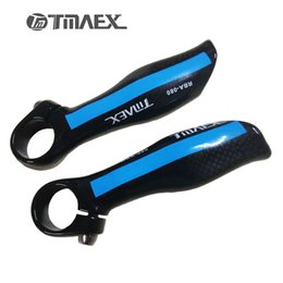 Wholesale Red Handlebar Ends - Specials! 2017 Hot TMAEX Ultra Light Really Ergonomic Carbon Fiber MTB Bicycle Handlebar Bar End Free Shipping Blue Red Silver