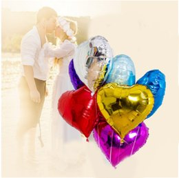 Wholesale Heart Shaped Silver Foil Balloons - Novelty Aluminum Foil Membrane Balloon 2017 Hot Selling Love Heart Shaped Balloon Suitable For Party Supplies C156Q