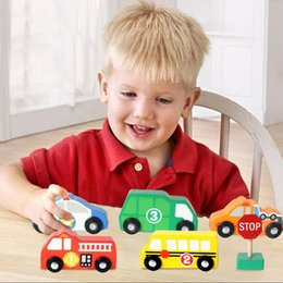 Wholesale Wooden Train Track Cars - Juguetes Kids Wooden Traffic Signs Play Set Kids Toys for Boys Safe High Quality Train Track Car Toys Brinquedos Baby Born Gifts