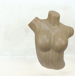 Wholesale Underwear Pendant - freeshipping 1pc Boutique sexy wood chest model, clothing store swimwear underwear bra display props mannequin B372