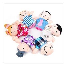 Bonito 6 pcs Macio De Pelúcia Minha família Dedo Puppet Set Inclui Avó Vovó Irmã Irmão Mãe Pai Dedo Plush Toys LOVE Presente Quente de