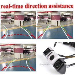 Wholesale Camera Ccd - 2017 New Intelligent Dynamic Trajectory Tracks Car Rear View Camera CCD Reverse Backup Camera Parking Assistance White Black Silver