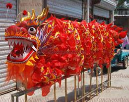 2019 juegos al aire libre para adultos DuanWu tamaño 4 # 6m-26m seda roja frabic dragon dance adulto Dragon Boat Festival traje de la mascota desfile al aire libre juego decorar cultura fiesta juegos al aire libre para adultos baratos