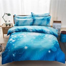 Wholesale Comforter Sets 3d Printing - 3d bedding set Home Textiles nebula Star four - piece quilt designer bedding sets bed sheets comforter sets 901
