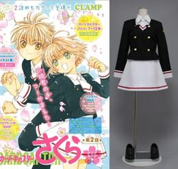 Wholesale Anime School Uniform - CARDCAPTOR SAKURA tomoeda elementary school uniform cosplay halloween costumes