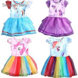 Wholesale Summer Cotton Lace Dresses Gauze - New Summer Girl Gauze Dress Baby Girl Lace Dresses Cartoon Princess Dress Short Sleeve Tutu Dress