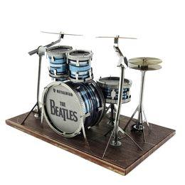 Wholesale Diy Drum Set - Beatles Jazz Drum Set Piececool 3D Metal Puzzle Colorful Assembly Laser Cut Toy Jigsaw Artwork DIY Building Block