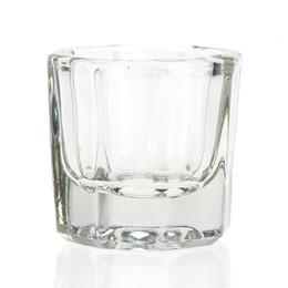 Wholesale Nail Art Dappen Dish - Wholesale- 1Pcs Nail Art Acrylic Liquid Crystal Powder Dust Mixing Storage Mini Dappen Dish Lid Clear Bowl Manicure Equipment Glassware