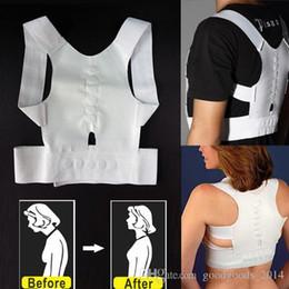 Wholesale Shoulder Back Posture - Magnetic Back Shoulder Posture Corrector Back Support Straighten Out Brace Belt Orthopaedic Adjustable Unisex Health b559