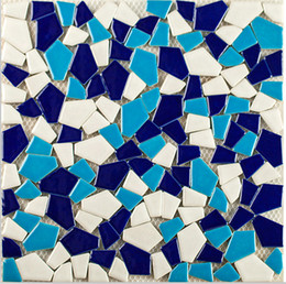 Wholesale Mosaic Tile Shapes - Mixed color deco glossy ceramic mosaic tiles blues irregular shape tiles kitchen backsplash ceramic mosaic tiles hand craft,LSSP10