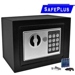 Wholesale Hotels Locks - NEW Small White Digital Electronic Safe Box Keypad Lock Home Office Hotel For Cash jewelery
