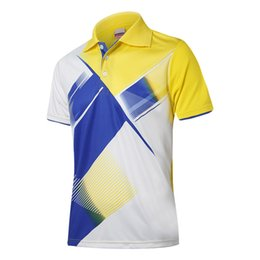 Wholesale Men Spandex Models - Short-sleeved Badminton Clothing Outdoor Sports Men and Women Couples Models Large Size Breathable Running Clothes Summer Lapel Collar Shirt