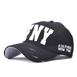 Wholesale Wholesale Baseball Caps Nyc - Wholesale- Fashion Cotton Snapback Baseball Cap Female Hats For Women Girls NYC and AFNY Casquette Sport Casual Headgear Adjustable Gorras