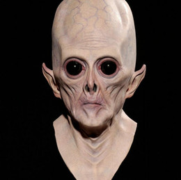 Wholesale Mask Faces For Carnival - Alien mask halloween masquerade carnival party full face