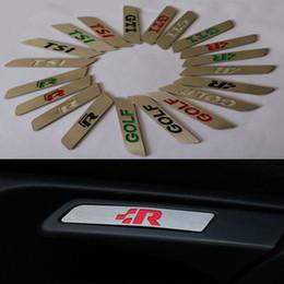 Sitzlifte online-Edelstahl Seat Lift Wrench Griff Dekorative Aufkleber für Sagitar Touran Golf 6 TSI R Jetta MK5 Octavia Auto Zubehör