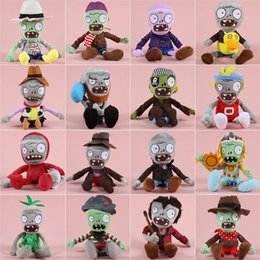 Wholesale Plants Zombie Plush - 20pcs 27-30cm Plants VS Zombies series doll for Grapple gifts variety of plush toys for children gift GB043