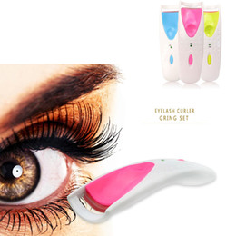 Wholesale Eyelash Perm Curler - Wholesale-High quality 1 PC Beauty Makeup Electric Eyelash Curler Eye Lash Perm Heated Eyelashes Clip Recourbe Clis Make Up Automatic