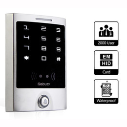 Wholesale Card Access Panels - Wholesale- Door Access Control IP65 Waterproof Touch Panel for RFID 125KHz EM Card Access Control F1221D