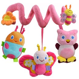 Wholesale Activity Spiral - Wholesale- HOT Sale Baby Cot Spiral Activity Hanging Decoration Toys for Cot Car Seat Pram Gifts baby toys 0-12 months