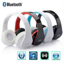 Wholesale Cordless Pc Headset - Handsfree Stereo Foldable Wireless Headphone Casque Audio Bluetooth Headset Cordless Earphone for Computer PC Head Phone Set with retail box