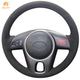 Wholesale Forte Wheels - Mewant Black Suede Car Steering Wheel Cover for Kia Forte 2009-2014 Soul 2010-2013