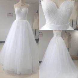 2017 vestidos de novia de encaje de playa árabe una línea de novia sin respaldo vestido de novia ata para arriba por encargo más tamaño vestidos de novia collar desde fabricantes