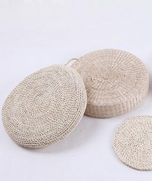 Wholesale China Wholesale Weave - hand-woven straw crafts portable cushion Bamboo weaving elliptical portable basket household adornment flower basket