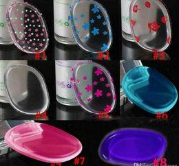2019 belleza mezclador colores 12 estilos Esponja Blender Set Blending Powder Smooth Puff Flawless Beauty Foundation Esponjas transparentes de silicona Silisponge sin látex