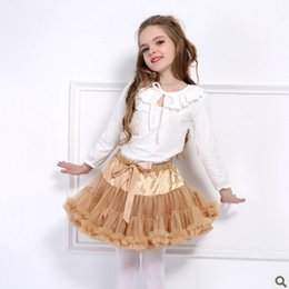 Wholesale Blue Tutu Ribbon Skirt - Baby Girls TuTu Skirt Ball Gown sequins Bows ribbon princess dance skirt Baby ruffle Tulle Layered fashion Children Clothing T3469
