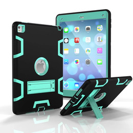 Wholesale Tab Silicon - Heavy Duty Shockproof Kickstand Hybrid Robot Case Cover for iPad mini pro 9.7 Pro 10.5 ipad 2 3 4 air 1 air 2 Galaxy tab T3787 P580 T820 20P
