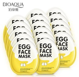 Wholesale Eggs Control - BIOAQUA Egg Facial Masks Oil Control Brighten Wrapped Mask Tender Moisturizing Face Mask Skin Care moisturizing mask
