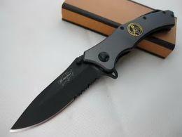 Wholesale Monkey Pockets - 2017 Elf Monkey 076 Titanium Tactical Folding Knife 440C Serrated Blade Outdoor Camping Hunting Survival Pocket Knife Glass Hammer EDC