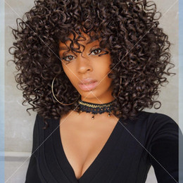 Wholesale Long Curly Heavy Wig - Brazilian Human Hair Soft Short Kinky Curly For Black Women 150% Heavy Density Full Lace Wig Curly Virgin Hair Lace Front Wig