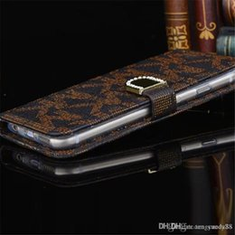 Wholesale Diamonds Wallets - Luxury Bling Diamond Wallet PU Leather Cell phone cases Rhinestone fold wallet Credit Card Slot Cover for iphone7 7plus 6 6Splus 5S Samsung