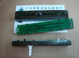 Wholesale Fader Mixer - Wholesale- [BELLA]Used Howard 8.8 cm sliding double mixer fader potentiometer B20K external stub--10PCS LOT