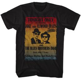 Wholesale Poster Prints - BLUES BROTHERS POSTER BLACK T-Shirt Mens Short Sleeve Tees
