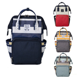 Wholesale Diaper Bag Fabric - Mommy Backpack Nappies Bags Fashion Mother Backpack Diaper Maternity Backpacks Large Volume Outdoor Travel Storage Bags 5 Color WX-B17