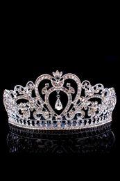 Wholesale Cheap Bling Hair - Bling Beaded Crystals Wedding Crowns 2017 Bridal Diamond Jewelry Rhinestone Headband Hair Crown Accessories Party Tiara Cheap CPA791
