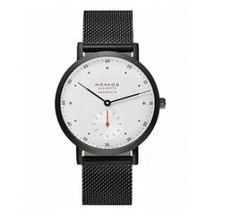 Wholesale Men Slim Watches - NOMOS Watches Men Luxury Brand Mesh Steel Strap Slim Male DZ Clock Men Watch Business Fashion Casual Watches relogio masculino