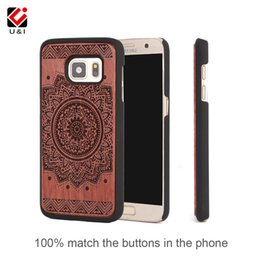 Wholesale Edge Protectors For Shipping - For Samsung s7 s7 edge luxury Rosewood Wooden Cell Phone Case PC Back Protector Cover for Galaxy s7edge Drop Ship Flower Carving cases