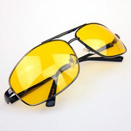 2019 lunettes jaune lentille conduite Gros-2016 Hot vente Lunettes Driver HD Haute Définition Nuit Conduite Vision Lunettes de Soleil Jaune Lentille lunettes jaune lentille conduite pas cher