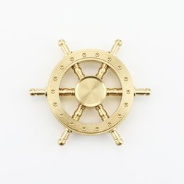 Wholesale Boat Rudder Design - 2017 Boat Rudder Hand Spinner Edc Decompression Toy Helmsman Fidget Spinner Steering Wheel Design Fidget Toy Classic Style DHL shipping