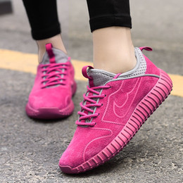 Wholesale Womens Casual Walking Shoes - 2017 New Women Casual Shoes Fashion Solid Flat Soft Breathable Super Light Trainers Womens Walking Shoes Ultra Zapatillas