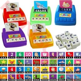 Wholesale Word Games Educational - Wholesale- Alphabet Letters Figure Spelling Games Cards English Word Puzzle Children's Educational Literacy Fun Early Learning Toys Random