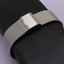Wholesale 16mm Watch Strap - Watchband folding buckle hook clasp new Stainless Steel Milanese Mesh Wristwatch Bands Straps Watch Bracelet 14mm 16mm 18mm 20mm 22mm 24mm